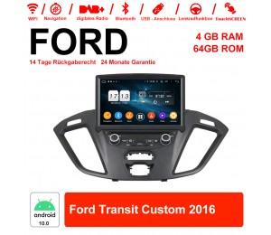 8 Zoll Android 10.0 Autoradio / Multimedia 4GB RAM 64GB ROM Für Ford Transit Custom 2016 Mit WiFi NAVI Bluetooth USB
