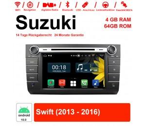 8 Zoll Android 10.0 Autoradio / Multimedia 4GB RAM 64GB ROM Für Suzuki Swift 2013 2014 2015 2016 Mit WiFi NAVI Bluetooth USB