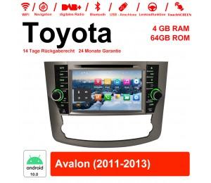 8 Zoll Android 10.0 Autoradio / Multimedia 4GB RAM 64GB ROM Für Toyota Avalon 2011-2013 Mit WiFi NAVI Bluetooth USB