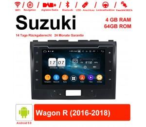 8 Zoll Android 9.0 Autoradio / Multimedia 4GB RAM 64GB ROM Für Suzuki Wagon R 2016-2018 Mit WiFi NAVI Bluetooth USB
