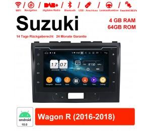8 Zoll Android 10.0 Autoradio / Multimedia 4GB RAM 64GB ROM Für Suzuki Wagon R 2016-2018 Mit WiFi NAVI Bluetooth USB
