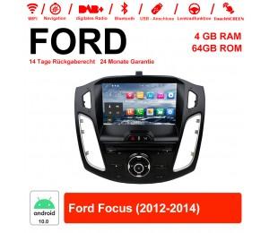 9 Zoll Android 10.0 Autoradio / Multimedia 4GB RAM 64GB ROM Für Ford Focus 2012-2014 Mit WiFi NAVI Bluetooth USB