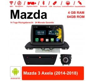 8 Zoll Android 9.0 Autoradio / Multimedia 4GB RAM 64GB ROM Für Mazda 3 Axela 2014-2018 Mit WiFi NAVI Bluetooth USB