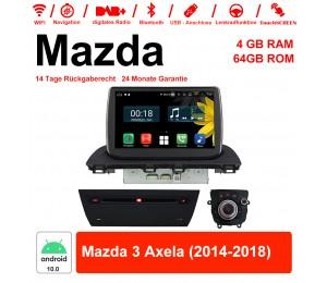 8 Zoll Android 10.0 Autoradio / Multimedia 4GB RAM 64GB ROM Für Mazda 3 Axela 2014-2018 Mit WiFi NAVI Bluetooth USB