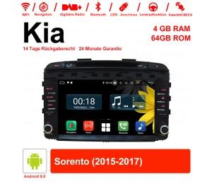 9 Zoll Android 9.0 Autoradio / Multimedia 4GB RAM 64GB ROM Für Kia Sorento 2015-2017 Mit WiFi NAVI Bluetooth USB