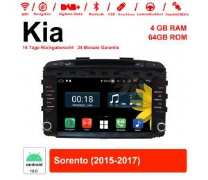 9 Zoll Android 10.0 Autoradio / Multimedia 4GB RAM 64GB ROM Für Kia Sorento 2015-2017 Mit WiFi NAVI Bluetooth USB