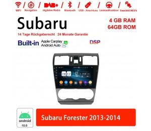 9 Zoll Android 10.0 Autoradio / Multimedia 4GB RAM 64GB ROM Für Subaru Forester 2013-2014 Built-in Carplay / Android Auto