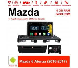 8 Zoll Android 9.0 Autoradio / Multimedia 4GB RAM 64GB ROM Für Mazda 6 Atenza 2016 2017 Mit WiFi NAVI Bluetooth USB