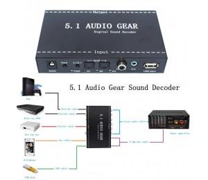5.1 Audio Gear Digital Sound Decoder to Analog Audio Converter Transfer Gracious
