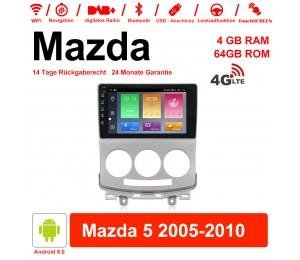 9'' Android 9.0 Octa-core 4GB RAM 64GB ROM Autoradio / Multimedia Für Mazda 5 2005-2010 Mit DSP WiFi 4G LTE NAVI Bluetooth USB Eingebautes Carplay