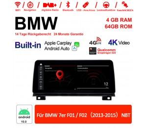 12.3 Zoll Qualcomm Snapdragon 625 8 Core Android 10.0 4G LTE Autoradio / Multimedia USB WiFi Navi Carplay Für BMW 7 Series F01/F02 NBT