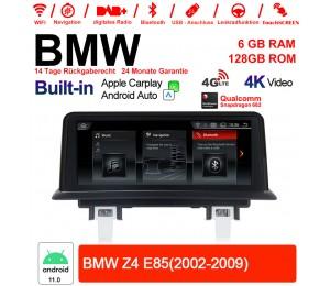 10.25 Zoll Qualcomm Snapdragon 662 8 Core Android 11.0 4G LTE Autoradio / Multimedia USB WiFi Navi Carplay Für BMW Z4 E85 (2002-2009)