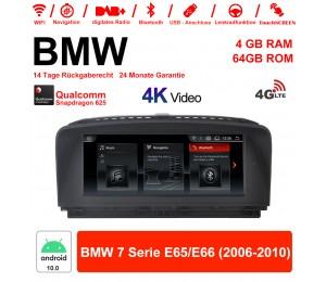8.8 Zoll Qualcomm Snapdragon 625 (MSM8953) 8 Core Android 10.0 4G LTE Autoradio / Multimedia 4GB RAM 64GB ROM Für BMW 7 Serie E65/E66 2006-2010 Mit WiFi NAVI Bluetooth USB