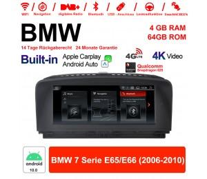 8.8 Zoll Qualcomm Snapdragon 625 8 Core Android 10.0 4G LTE Autoradio / Multimedia WiFi NAVI USB Carplay Für BMW 7 Serie E65/E66 2006-2010