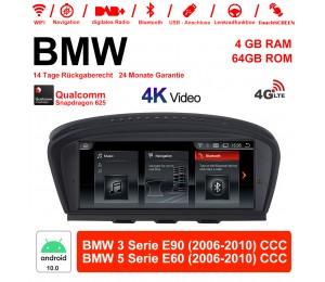 8.8 Zoll Qualcomm Snapdragon 625 (MSM8953) 8 Core Android 10.0 4G LTE Autoradio / Multimedia 4GB RAM 64GB ROM Für BMW 3 Serie E90 5 Serie E60 2006-2010 CCC Mit WiFi NAVI Bluetooth USB