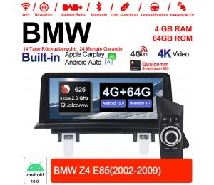 """10.25"""" Qualcomm Snapdragon 625 A53 2.0 GHZ Android 10.0 4G LTE Autoradio USB WiFi Navi Carplay Für BMW Z4 E85(2002-2009)"""