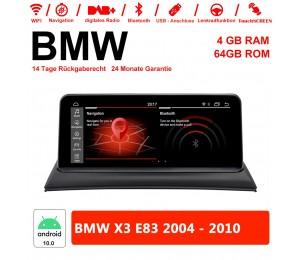 10,25 Zoll PX6 Android 10.0 Autoradio / Multimedia 4GB RAM 64GB ROM Für BMW X3 E83 2004 - 2010 MIT NAVI Bluetooth WIFI