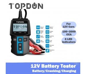 TOPDON BT 100 Auto Batterie Tester 12V 100-2000 CCA Digital Auto Batterie Analyzer für Auto Lkw Motorrad ankurbeln Lade Test