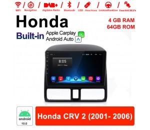 9 Zoll Android 10.0 Autoradio / Multimedia 4GB RAM 64GB ROM Für Honda CRV 2 2001- 2006 Mit DSP Built-in Carplay Android Auto