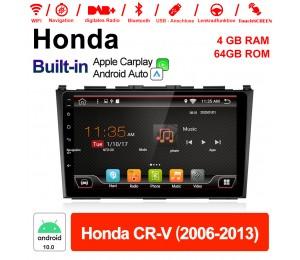 9 Zoll Android 10.0 Autoradio / Multimedia 4GB RAM 64GB ROM Für Honda CR-V 2006 - 2013 MIT Navi Bluetooth WIFI Built-in Carplay Android Auto