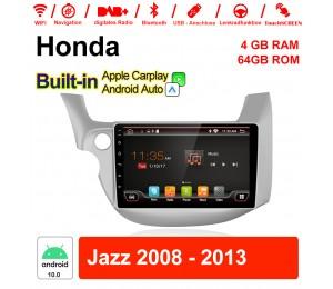 10.1 Zoll Android 10.0 Autoradio / Multimedia 4GB RAM 64GB ROM Für Honda Jazz 2008 - 2013 MIT Navi Bluetooth WIFI Built-in Carplay Android Auto