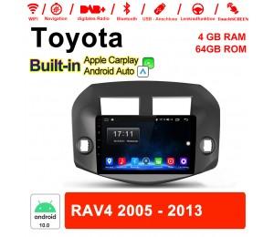 10.1 Zoll Android 10.0 Autoradio / Multimedia 4GB RAM 64GB ROM Für Toyota RAV4 2005-2013 MIT Navi Bluetooth WIFI Built-in Carplay Android Auto