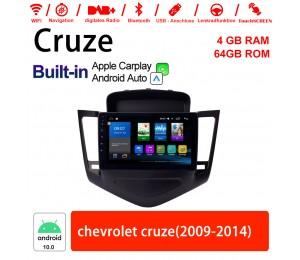 9 Zoll Android 10.0 Autoradio / Multimedia 4GB RAM 64GB ROM Für Chevrolet cruze 2009-2014 Built-in Carplay