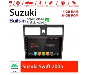 10 Zoll Android 10.0 Autoradio / Multimedia 4GB RAM 64GB ROM Für Suzuki Swift 2005 Mit DSP Built-in Carplay Android Auto