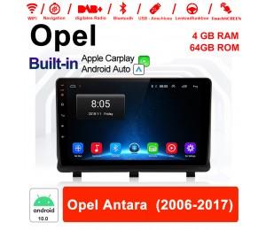 9 Zoll Android 10.0 Autoradio / Multimedia 4GB RAM 64GB ROM Für Opel Antara 2006-2017 Mit DSP Built-in Carplay Android Auto