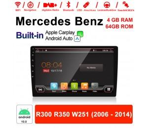 9 Zoll Android 10.0 Autoradio / Multimedia 4GB RAM 64GB ROM Für Mercedes BENZ R300 R350 W251 2006 - 2014  Mit DSP Built-in Carplay Android Auto