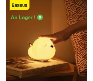 Baseus Cute LED Nachtlicht Weiches Silikon Touch Sensor Nachtlicht Für Kinder Kinder Schlafzimmer Wiederaufladbare Tap Control Nachtlampe