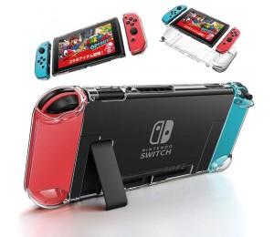 Abnehmbare transparente Crystal PC-Hülle für Nintendo Nintendo Switch NS-Hüllen Harte, klare, hintere Hülle, ultradünne Tasche