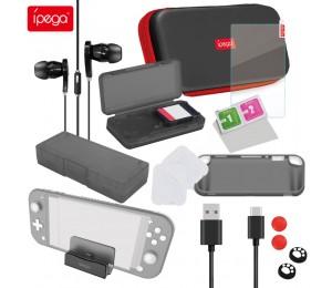 ipega PG-SL002 18-in-1-Zubehör-Kit Spielzubehör für N-Switch Lite Gamepad-Schutzhülle