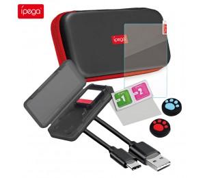 ipega PG-SL001 9 in 1 Aufbewahrungskoffer für Switch Lite-Konsole / Spielkarte / Datenkabel
