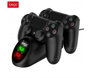iPega PG-9180 Dockingstation mit zwei Ladestationen für PS4 Game Controller Gamepad-Ladegerät mit Statusanzeige