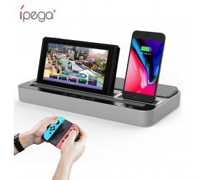 ipega PG-9119 Ladestation für Nintendo Switch Mehrzweck-Ladebuchse mit Audio-Lautsprecherfunktion