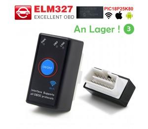 ELM327 V1.5 mit PIC18F25K80 Chip MINI ELM327 Bluetooth 4.0 / Wifi OBD2-Scanner-Codeleser für Android / IOS 12V Car Auto-Diagnosetool