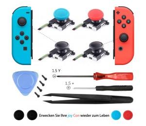 3D Analog Joy Con Joystick Daumen Stäbchen Sensor Ersatz Zubehör für Nintendo Switch Joy Con Controller mit Werkzeugsatz