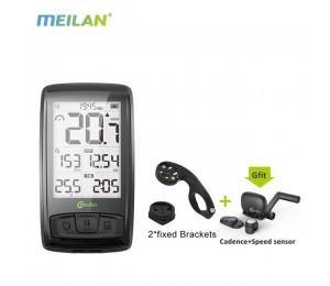 Meilan M4 Wireless Fahrrad Tachometer Herzfrequenzmesser Trittfrequenz Geschwindigkeitssensor Wasserdichte Stoppuhr