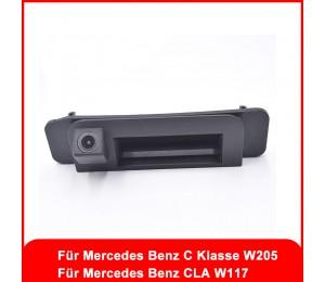 1080P Auto HD Gepäckgriff Kamera für Mercedes Benz C-Klasse W205 CLA W117 Rückfahr Rückfahrkamera Nachtsichtkamera