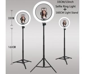 Video-Leuchten Dimmbares Licht Selfie LED-Ringlicht USB-Ringlampe mit Stativ-Stativ Lichtrand für TikTok Youtube