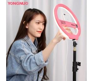 YONGNUO YN128 3200K-5500K Kamera Fotostudio Telefon Video 128 LED Ringlicht Fotografie Dimmbare Ringlampe