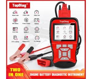 TopDiag TP908B OBDII Scanner Auto Diagnose Instrument Unterstützung Motor Überprüfen 12V Batterie Intelligente Test Diagnose Dual System