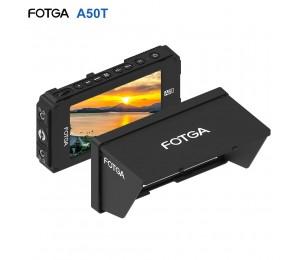 FOTGA A50T 5 Zoll FHD IPS Vedio Monitor Auf-kamera Feld Monitor 1920*1080 Touchscreen Dual NP-F Batterie platte für 5D III IV A7 A7R A7S II III GH5
