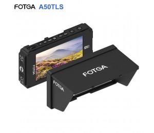 FOTGA A50TLS 5 Zoll FHD Video Auf-kamera Monitor für A7S II GH5 IPS Touchscreen HDMI Eingang/Ausgang 3D LUT Dual NP-F Batterie Platte