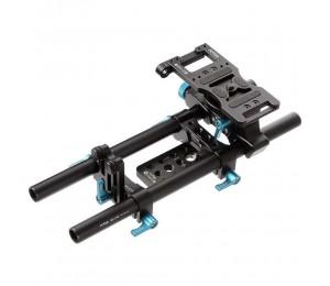 FOTGA 15mm Schienen-rod-support-system Grundplatte Montieren für DP500IIS BMCC 5DIII 5DII 1000D DSLR Folgen Fokus Rig
