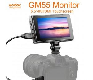 Godox GM55 5,5 Zoll IPS Touchscreen On Camera Monitor 4K HDMI Ausgang 160° Weitwinkel 3D LUT für DSLR ILDC Kameras