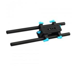 FOTGA DP3000 M2 15mm Standard Doppelstab Baseplate Rig für A7 A7RS A7RIII GH4 GH5 GH5S GH6 A6000 A6500 FS7 BMPCC
