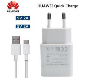 Huawei Original QC 2.0 Schnellladegerät Micro Typ C USB-Kabel