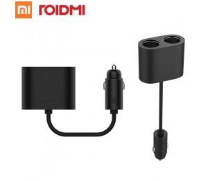 Original Xiaomi ROIDMI Auto Dual Zigarettenanzünder Splitter 1 bis 2 Lade Ports Auto-ladegerät Adapter